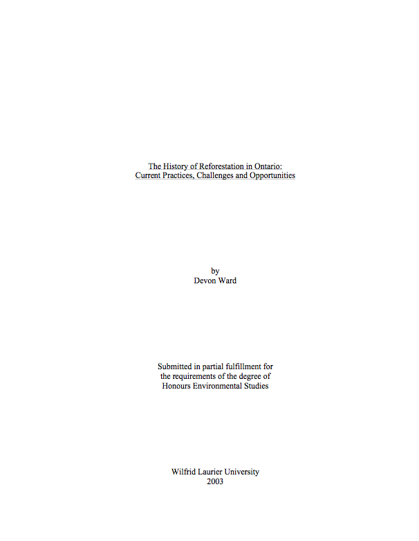 cover page of masters thesis